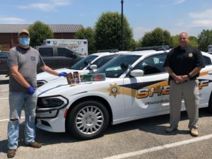 Pictured: (Retired State Trooper) Deck Hardee of Strong Tower Ministries and Franklin County Sheriff's Office Captain Ken Holland