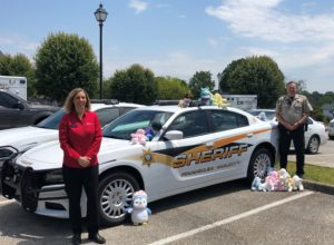 Pictured: Michelle Vandergrift with Keller Williams Realty and Franklin County Sheriff's Office Deputy Chris Powell